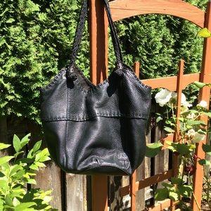 The SAK bag hobo bucket style soft black leather